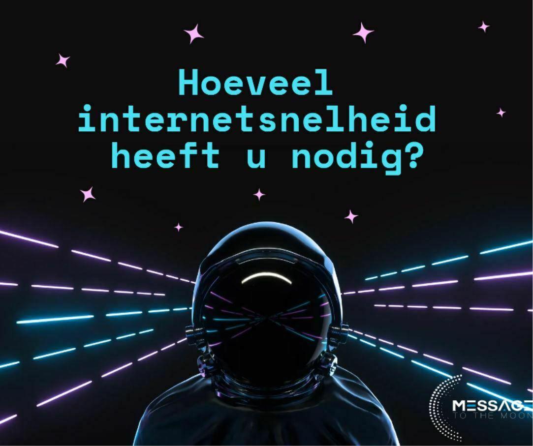 hoeveel internetsnelheid